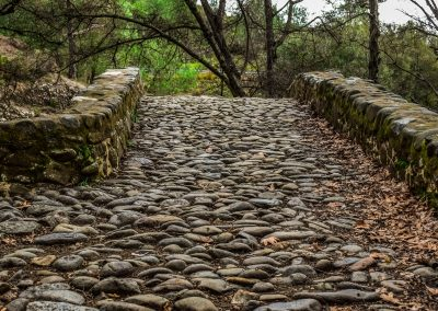 Walk on cobblestones to improve your balance and blood pressure